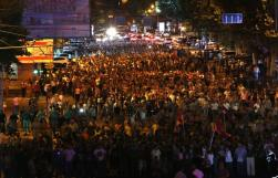 Tüntetés Jereván utcáin